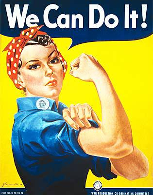 Rosie the riveter. Wiki commons.