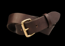 TANNER GOODS STANDARD BELT IN HAVANA AND BRASS $105.00 Union Made