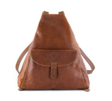 classic small, flat backpack by IL Bisonte $568