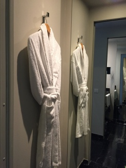 Lovely space for bathrobes