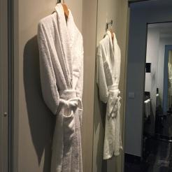 Lovely space for bathrobes