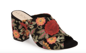 Luella Flower Embroidered Mule SOLE SOCIETY SRP/ $79.95