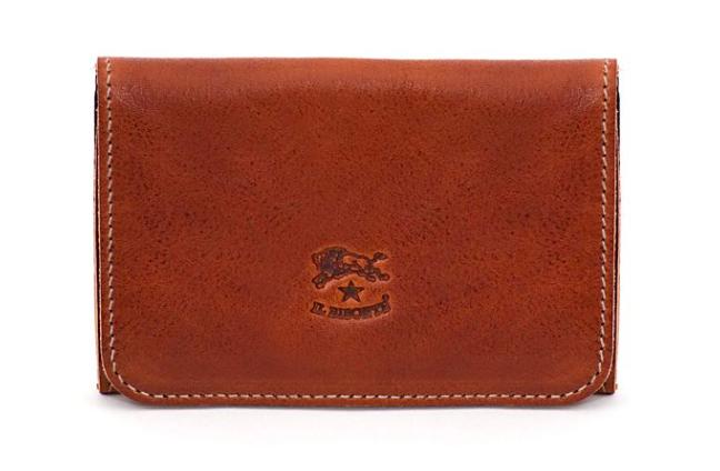 CARD CASE IN VINTAGE COWHIDE LEATHER C0470 (COLOR DARK BROWN SEPPIA) $65