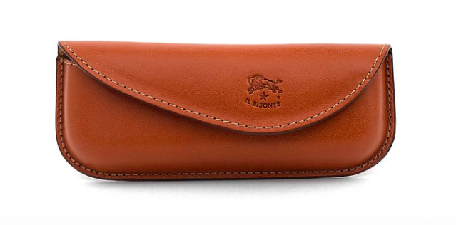 GLASSES CASE IN COWHIDE LEATHER C0749 (COLOR CARAMEL) $70