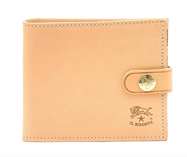 MAN'S BI-FOLD WALLET IN COWHIDE LEATHER C1007 (COLOR NATURAL) $195