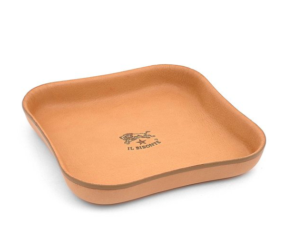 TIDY TRAY IN COWHIDE LEATHER C0660 (COLOR NATURAL) $140